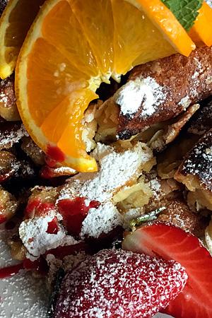 farry Dessert: Kaiserschmarrn. Fotografin: Yvonne Kornas.